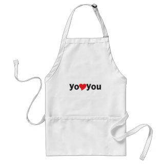 Yo heart You (I love you) Adult Apron