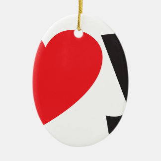 Yo heart You (I love you) Ceramic Oval Decoration