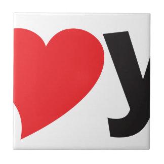Yo heart You (I love you) Ceramic Tile
