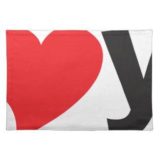 Yo heart You (I love you) Cloth Place Mat