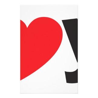 Yo heart You (I love you) Customised Stationery