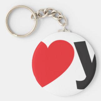 Yo heart You (I love you) Basic Round Button Key Ring