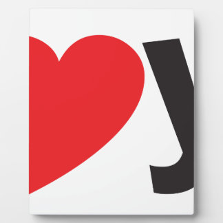 Yo heart You (I love you) Plaque