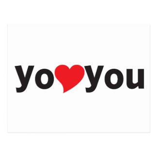 Yo heart You (I love you) Postcard
