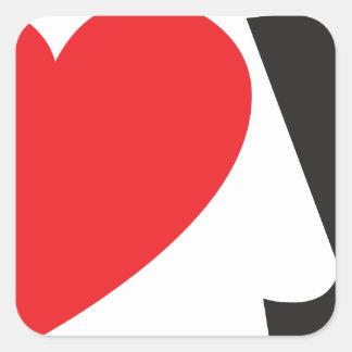 Yo heart You (I love you) Square Sticker