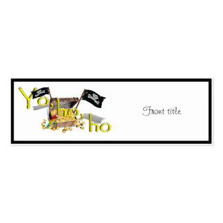 YO HO HO Double-Sided MINI BUSINESS CARDS (Pack OF 20)