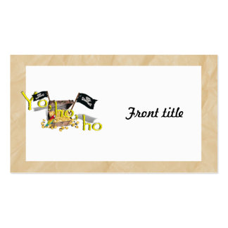 YO HO HO Pirate Treasure Chest on Crinkle Paper Business Card Templates