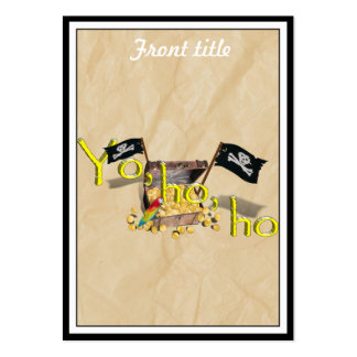 YO HO HO Pirate Treasure Chest on Crinkle Paper Pack Of Chubby Business Cards