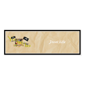 YO HO HO Pirate Treasure Chest on Crinkle Paper Pack Of Skinny Business Cards