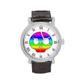Yo Ho Ho Rainbow Pirate Skull Wrist Watches