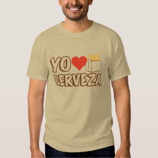 Yo Love Cerveza T Shirts