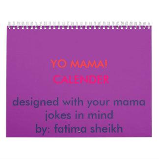 YO MAMA!, CALENDER, designed with your mama jok... Calendars