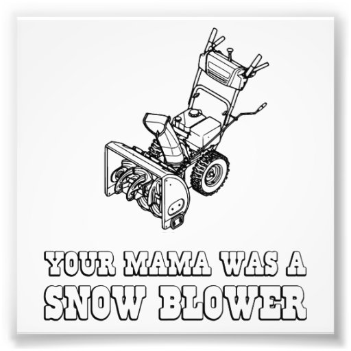 Yo Momma Robot Joke - She Was A Snow Blower Art Photo
