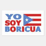 Yo Soy Boricua, Puerto Rican Pride Rectangular Sticker