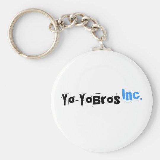 Yo-YoBros, Inc. White Logo Keychain