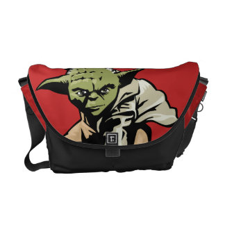 Yoda Illustration Messenger Bags