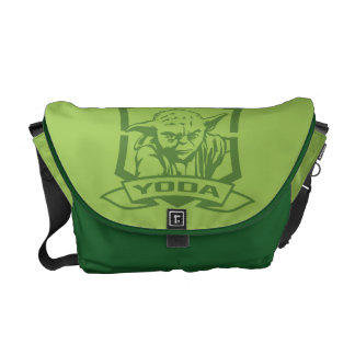 Yoda Stencil Messenger Bags