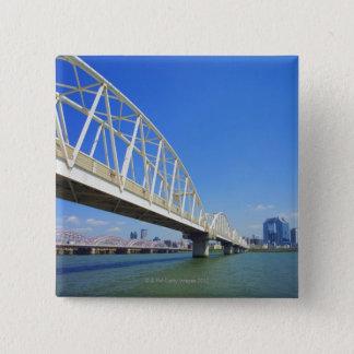 Yodogawa River 15 Cm Square Badge