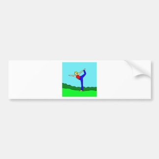 yoga1.jpg bumper sticker