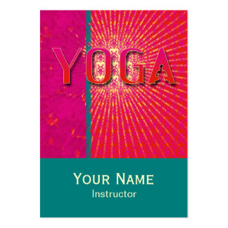 Yoga 1 - Business Schedule Card Business Cards