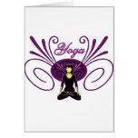 Yoga #1 greeting card