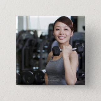 Yoga 2 15 cm square badge