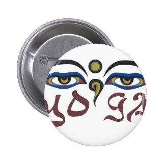 Yoga 6 Cm Round Badge