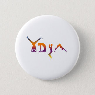 Yoga 6 Cm Round Badge