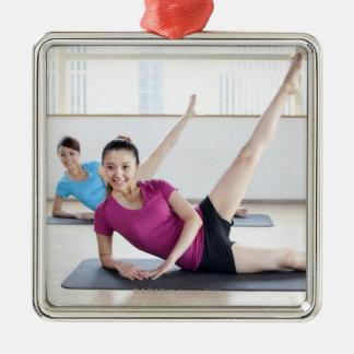 Yoga 8 Silver-Colored square decoration