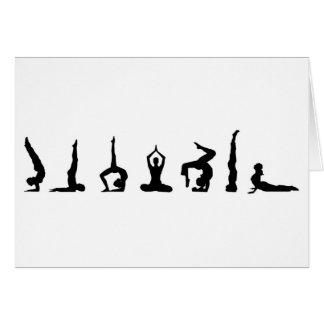 yoga_all greeting card
