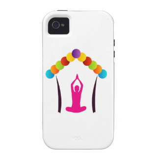 Yoga and meditation graphic iPhone 4 covers
