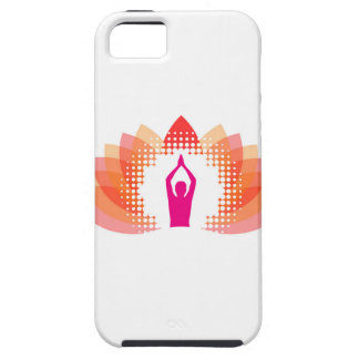 Yoga and meditation graphic iPhone 5 case