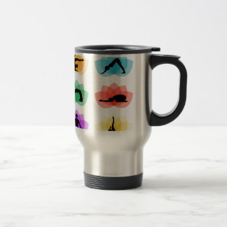 yoga and meditation symbols travel mug