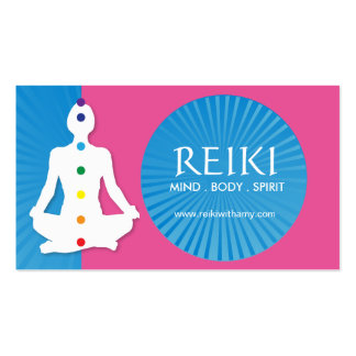 Yoga and Reiki Business Cards