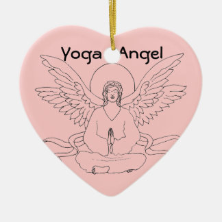 Yoga Angel Christmas Ornament