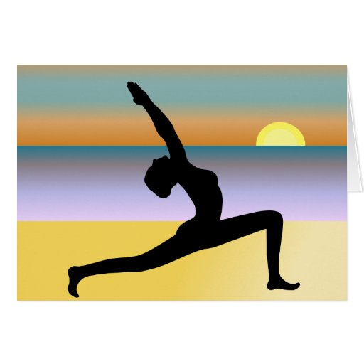 Yoga At The Beach Note Card Greeting Card