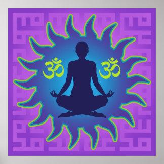 Yoga Aum Poster
