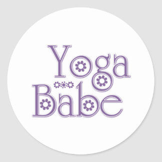 Yoga Babe Round Sticker