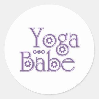 Yoga Babe Round Sticker