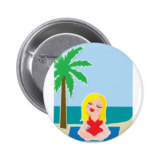 Yoga Background Button