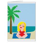 Yoga Background Greeting Card