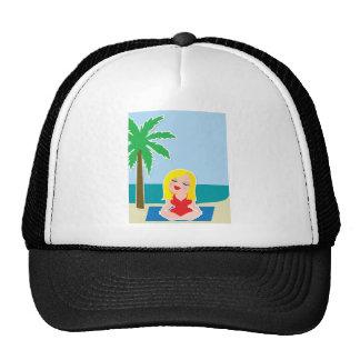 Yoga Background Mesh Hat