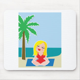 Yoga Background Mouse Pad