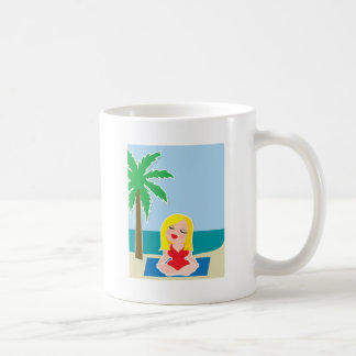 Yoga Background Coffee Mugs