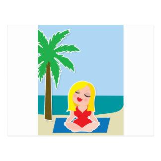 Yoga Background Postcard