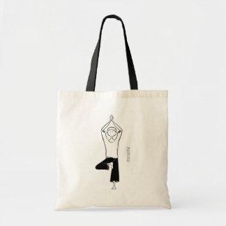 Yoga bag with Vrikshasana