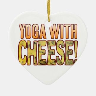 Yoga Blue Cheese Ceramic Heart Decoration