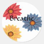 Yoga Breathe Sticker