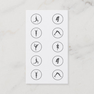 Yoga business cards business card printing zazzle uk yoga business card 10 class pass reheart Gallery