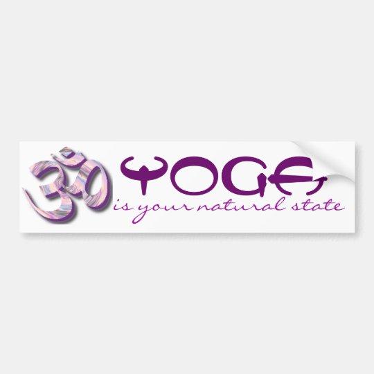 yoga car bumper sticker